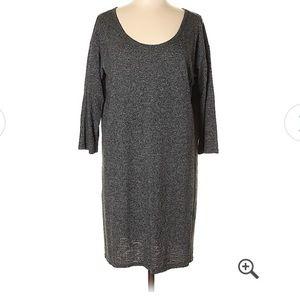Gap scoopneck 3/4 sleeve shirt dress
